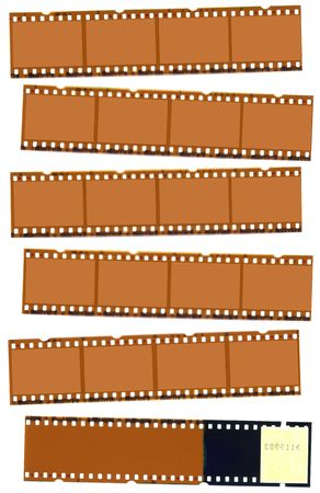 oldies: Photographic negative film strip for use as borders or backgrounds