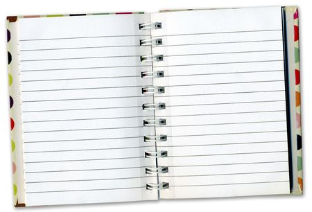 bind: Notebook Diary Inside Pages for use as a background for your design. Stock Photo