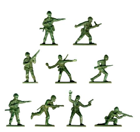 plastic soldier: Collection of traditional toy soldiers. Also available separately in XL size.  Stock Photo