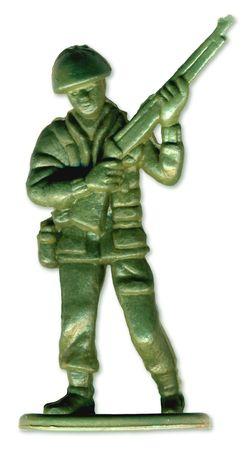 rifleman: Soldado de juguete tradicional escaneadas en alta resoluci�n para permitir la impresi�n a gran tama�o y la extrema detalle.