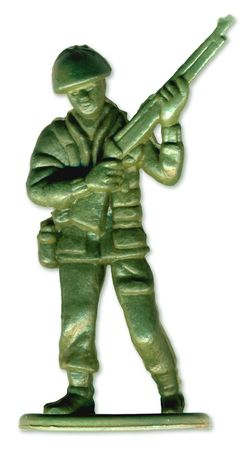 Traditional Toy Soldier scanned in high resolution to allow for printing at large size and extreme detail.