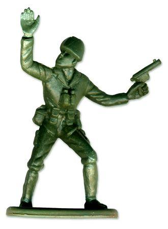 rifleman: Soldado de juguete tradicional en el escaneado de alta resoluci�n para permitir la impresi�n a gran tama�o y la extrema detalle.