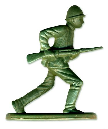 infantryman: Traditional Toy Soldier scanned in high resolution to allow for printing at large size and extreme detail.