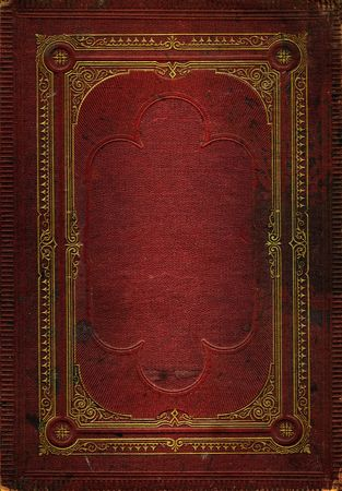 Old red leather texture with gold decorative frame. Matching texture without frame also available Stock Photo - 2190933