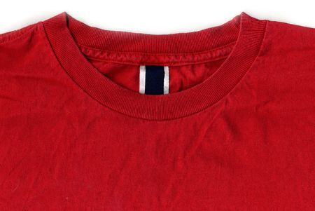 red tshirt: Red T-shirt Design with Tags and Labels scanned in high resolution for extreme detail