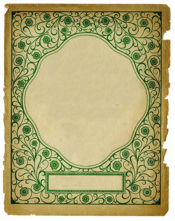 Vintage Decorative Background Design on Old Textured Paper Stock Photo