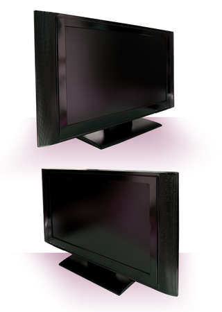 LCD or Plasma TV Cutout against white with clipping path Stock Photo - 3010964