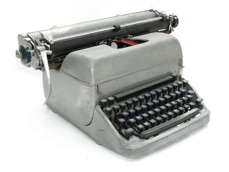 Vintage old type writer against a white background Stock Photo - 3109967