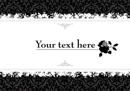 Vintage decorative banner vector illustration with clear space for text