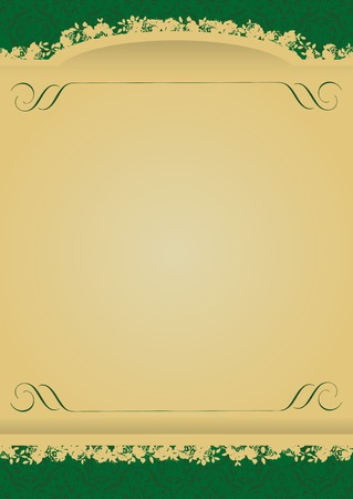 Vintage Green and Gold decorative banner vector illustration All parts are editable Stock Vector - 3223975