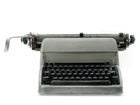 Vintage old type writer against a white background Stock Photo - 3233080