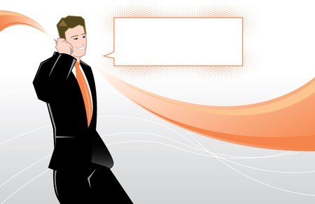 Young business man vector illustration All parts are editable