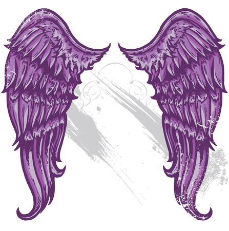 Hand drawn tattoo style wings converted to vecter format All parts are editable and on seperate layers