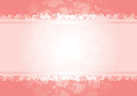 Valentines roses background pattern with copy space. All elements are separate and fully editable
