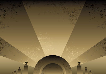 Art Deco Futurist style background design. Vector format and fully editable Иллюстрация