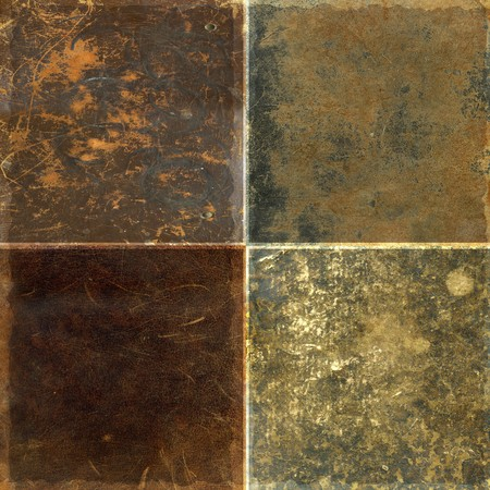 Collection of four rough leather texture backrounds