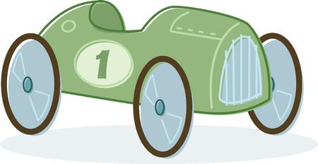 Retro style toy race car illustration. Vector format Illustration