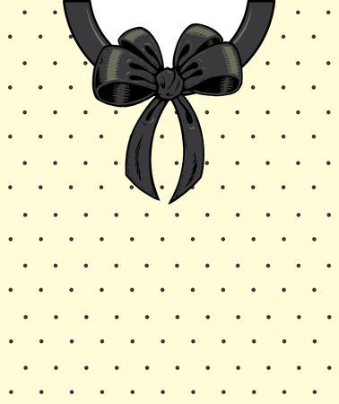 Chic polka dots and ribbon on a shirt detail illustration. Vector format, fully editable Stock Vector - 5279040