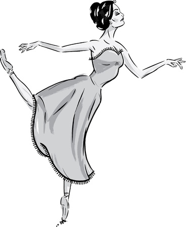 Female Ballet Dancer in pose. Stock Vector - 9931977