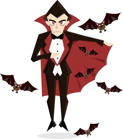 Dracula Cartoon perfect for Halloween Stock Vector - 9931919