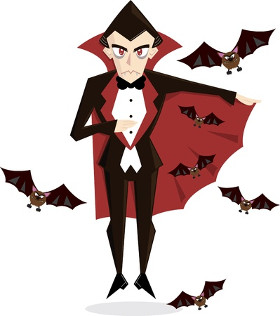cartoon vampire: Dracula Cartoon perfect for Halloween