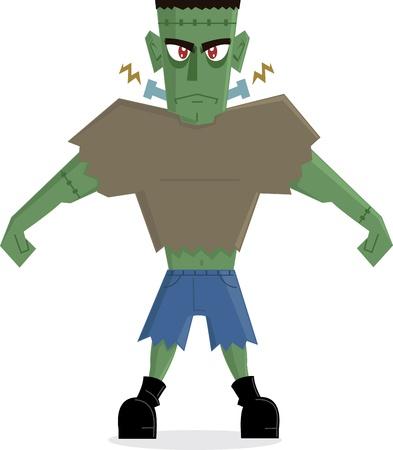 cartoon frankenstein: Frankenstein Cartoon perfect for Halloween