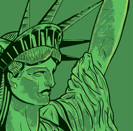 Statue of Liberty face detail. Stock Vector - 9931994