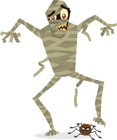 Mummy Cartoon perfect for Halloween Vector