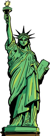 liberty: Statue of Liberty full figure. Illustration