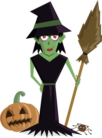 wicked witch: Wicked Witch Cartoon perfect for Halloween
