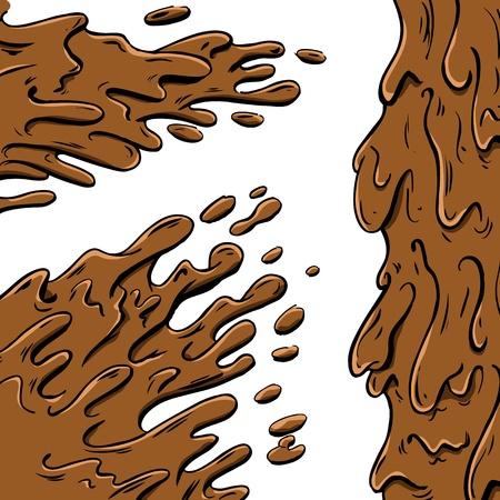 dirt texture: Cartone animato di spruzzi di fango