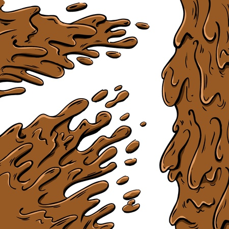 slurry: Mud splashes cartoon
