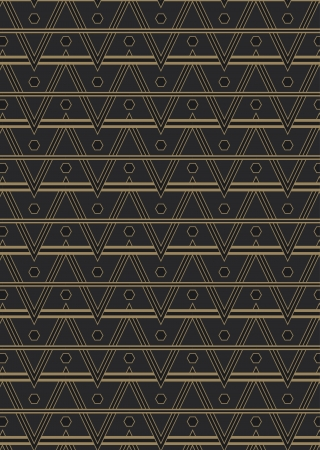 An Art Deco style background pattern containing a seamless repeatable swatch. Иллюстрация