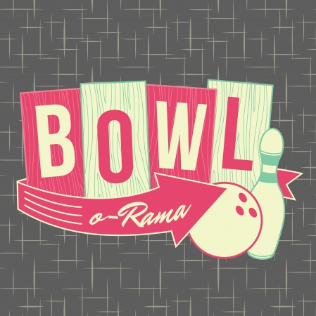 1950s Bowling Style Logo Design  Stock Photo