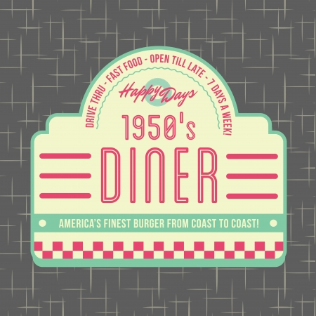 1950s Diner Style Logo Design Stock Photo - 21084771