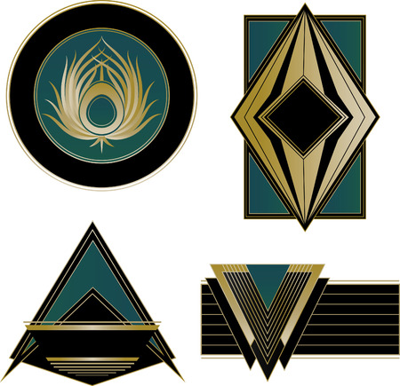 A collection of four mixed Art Deco   and Design Elements