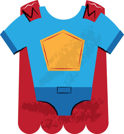 Super Hero Outfit Children Stock Photo