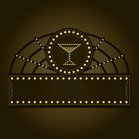 An editable  styled after the vintage Prohibition era boardwalk signs of the 1920s.
