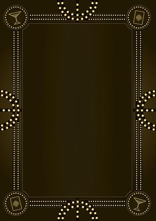 금지 시대에 의해 영감을 된 빈티지 스타일 장식 배경 및 프레임 디자인 America. 스톡 콘텐츠