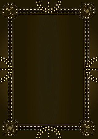 A vintage style decorative background and frame design inspired by prohibition era America.