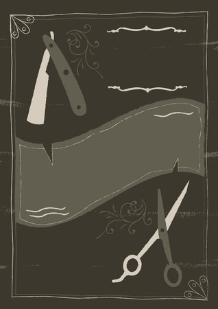 An illustrated background design inspired English Victorian gothic. Illustration