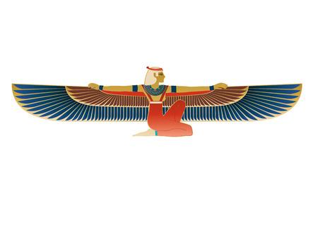 Een vector illustratie geïnspireerd door de schatten van historische Egypte. Stock Illustratie
