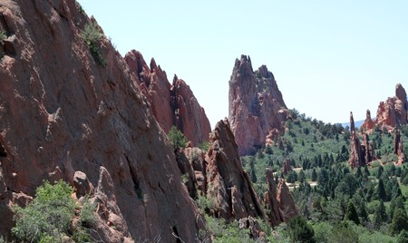 populate: Outcroppings populate the tourist attraction in Colorado Springs