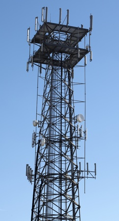 Tower connected to the world of digital telecommunications