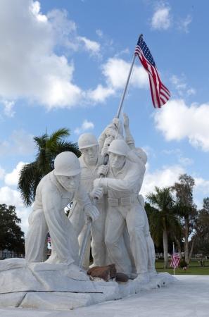 Statue of marines at Iwo Jima Stock Photo