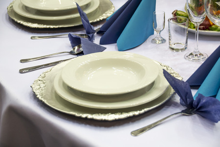 occasions: Tableware for special occasions Stock Photo