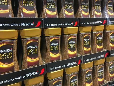 Gorlice, Polen - 13. Mai 2017: Nescafe-Goldmischungs-Kaffee Zum ...