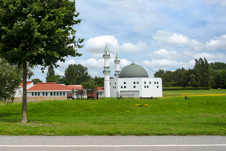 frequented: Malmo, Sweden - July 22, 2017: Islamic Center in Malmö - the mosque and the school located in Malmo in Sweden. Editorial