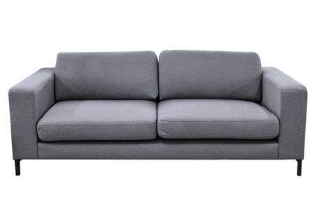 Modern grey sofa isolated on white background