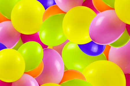 Background of multi colored party balloons (mixed)